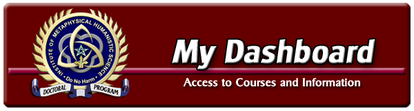 The Dashboard is your access point for all metaphysical courses and additional resources.